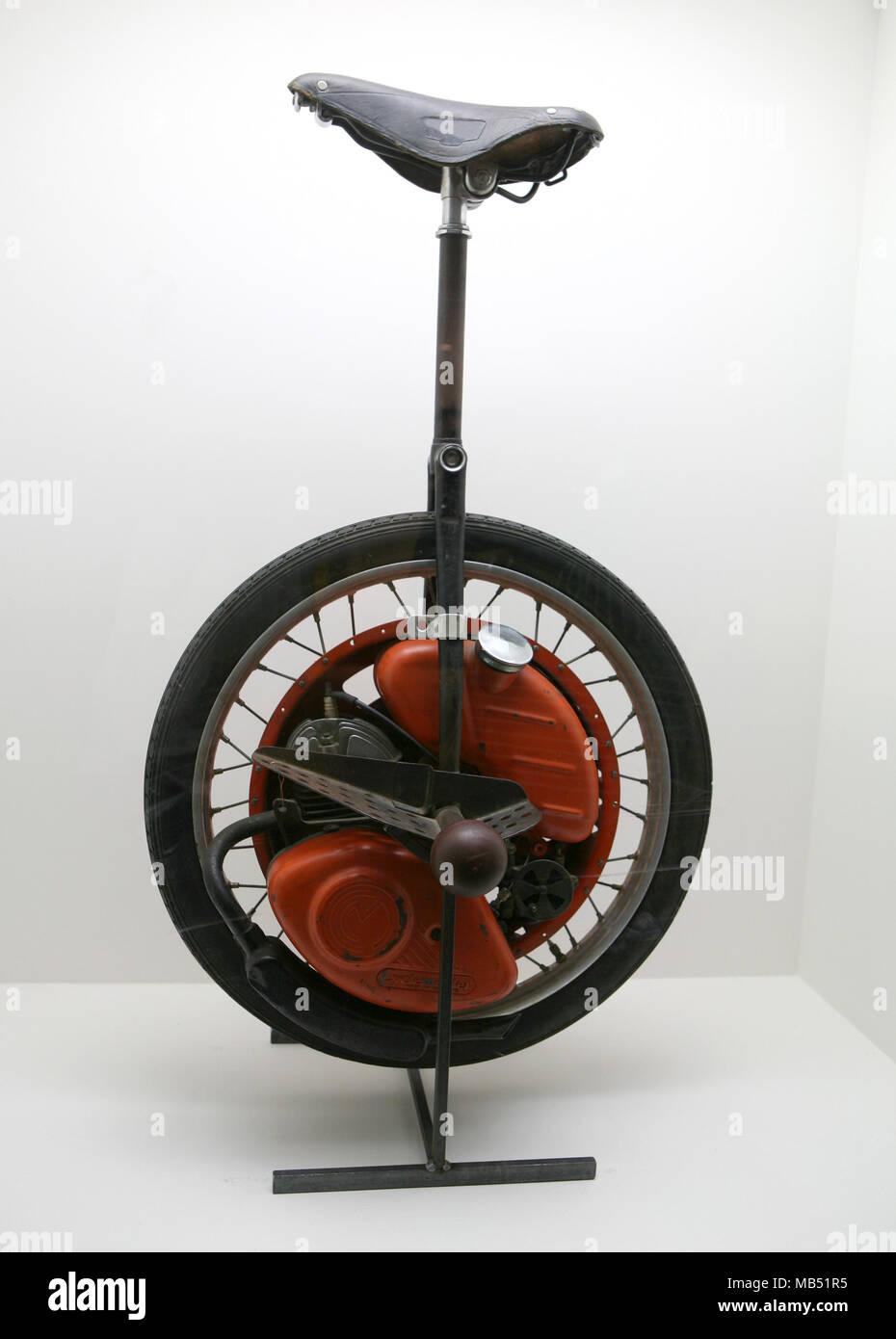 Motorized unicycle - Stock Image