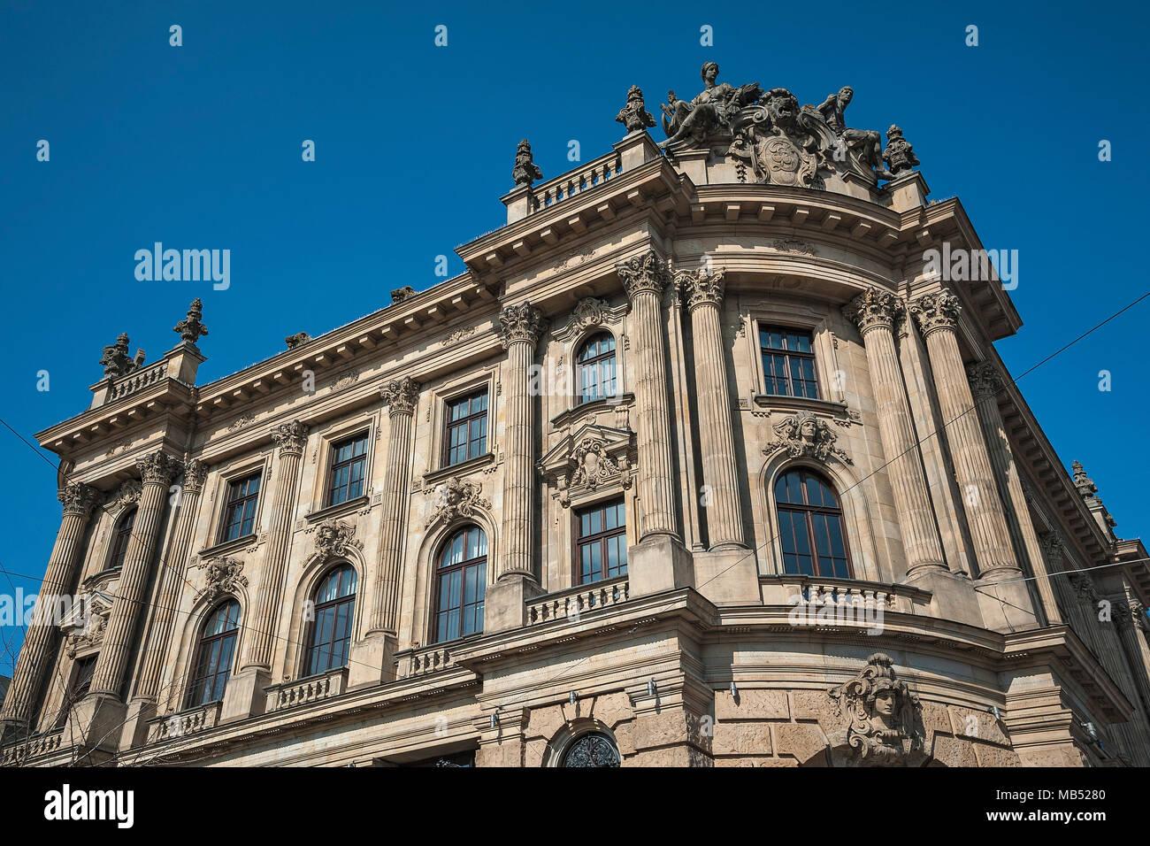 Old Stock Exchange from the Gründerzeit, Lenbachplatz, Munich, Bavaria, Germany - Stock Image