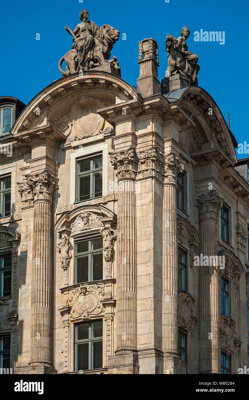 Palais Lenbach, Lenbachplatz, Munich, Bavaria, Upper Bavaria, Germany - Stock Image