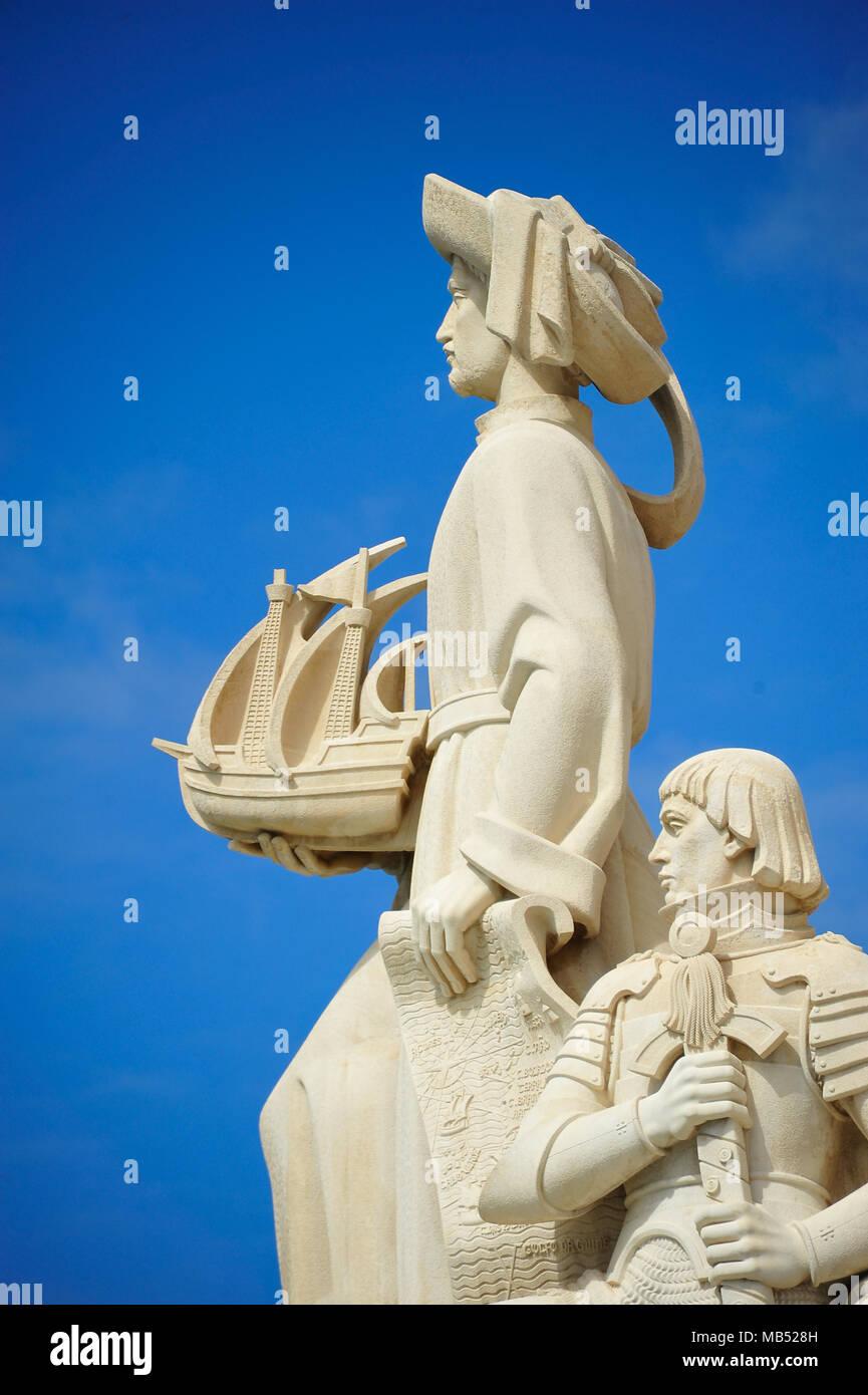 Monument of the Discoveries, Padrão dos Descobrimentos, Belém, Lisbon, Portugal - Stock Image
