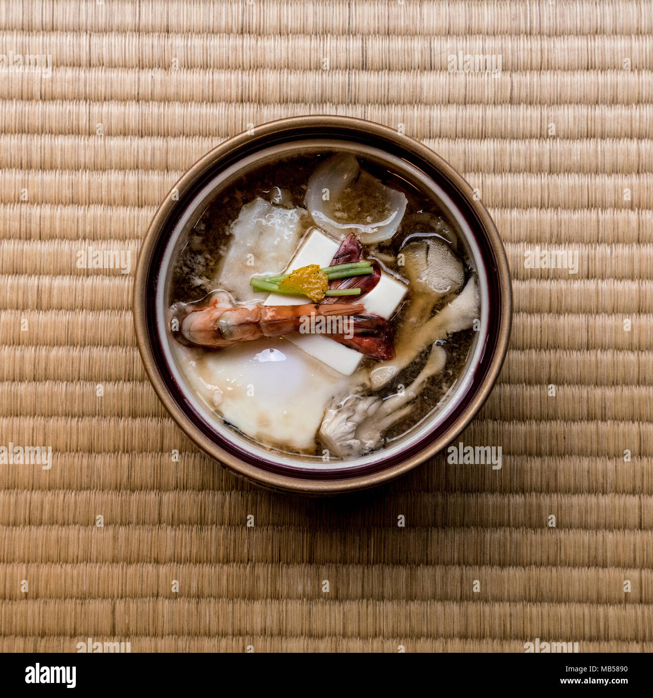 A short ride from Tokyo, Oyama area is famous for great nature, pure water and wonderful local food, including sumptuous dishes made from tofu. - Stock Image