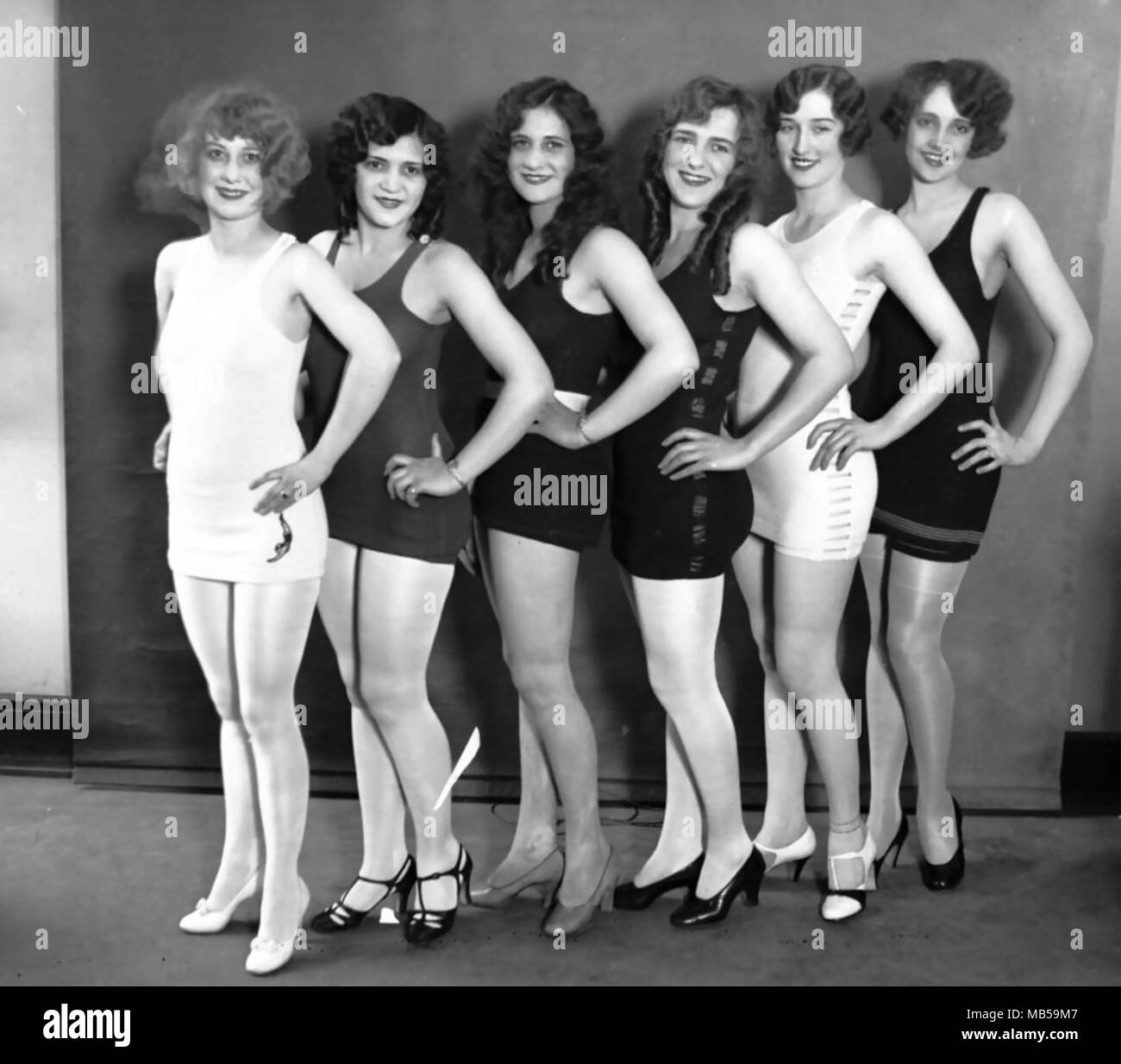 MISS CHICAGO beauty contest entrants about 1920 Stock Photo