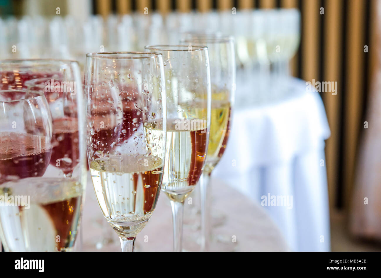 Catering bar for celebration. Beauty of interior for wedding day. - Stock Image