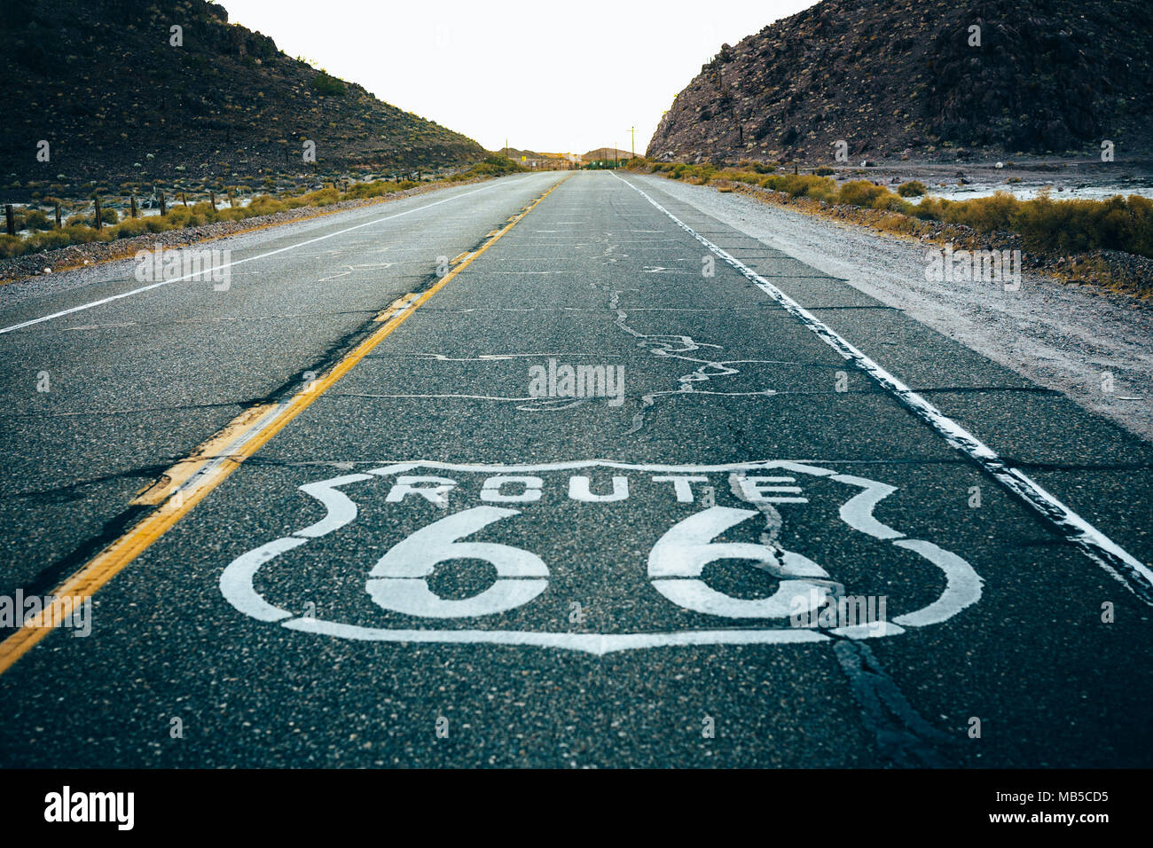 Route 66 Newberry Springs - Stock Image