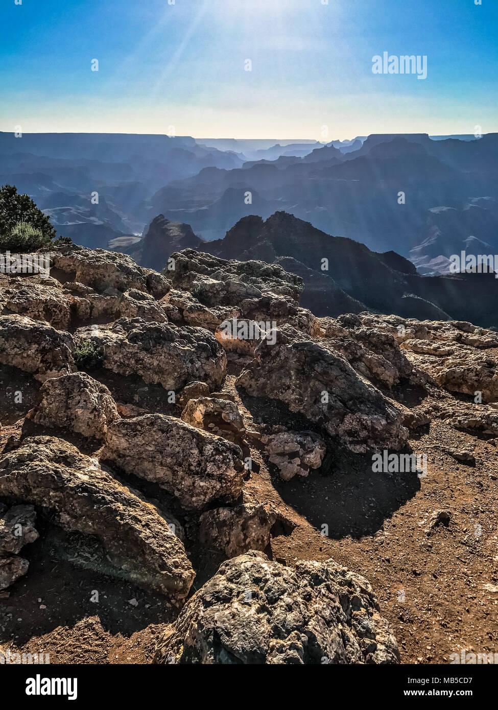 Rocky Terrain Grand Canyon National Park - Stock Image