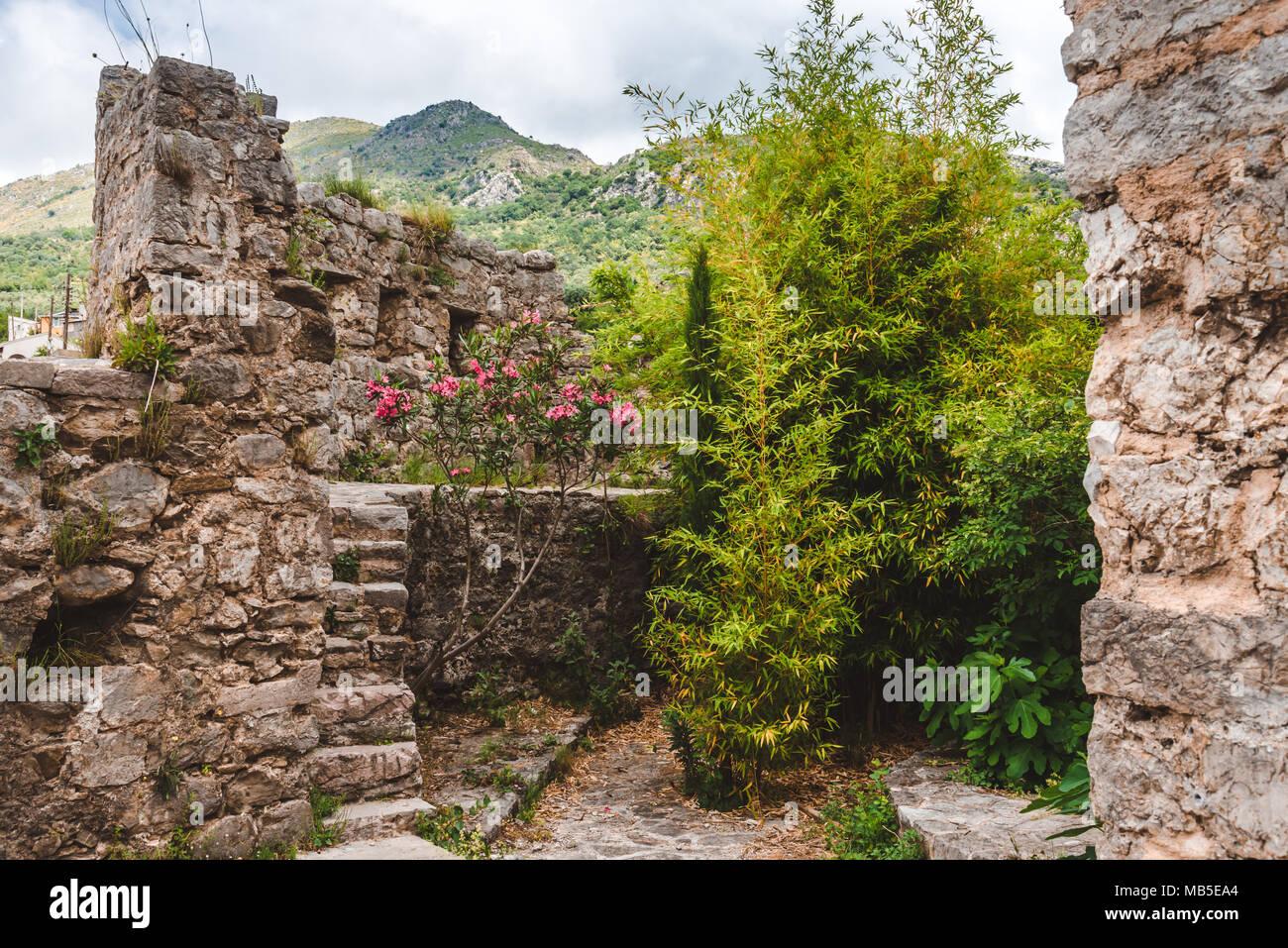 Ruins of Old Bar, Montenegro - Stock Image