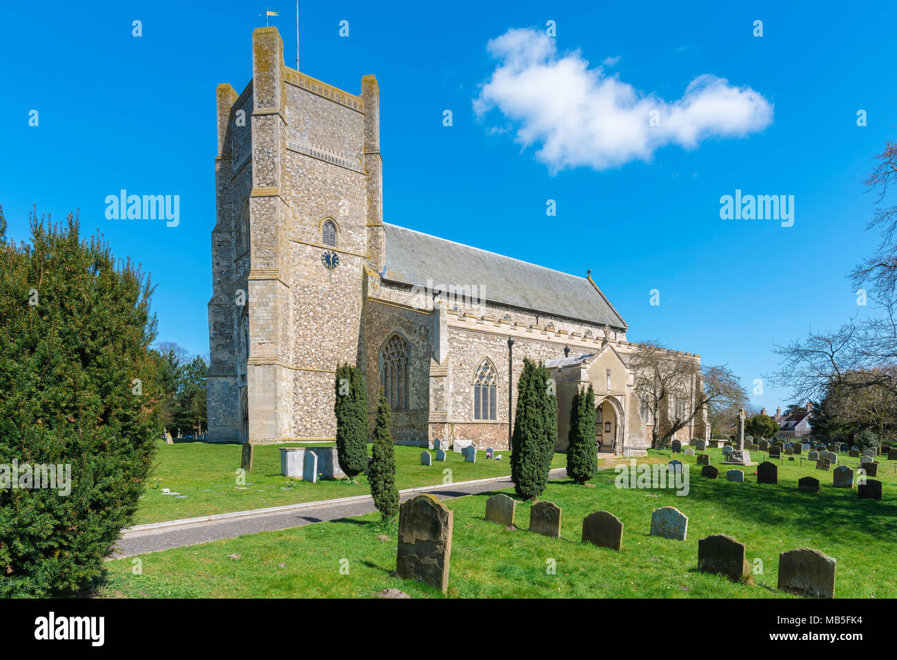 Church Suffolk, view of St Bartholomew's Church in the Suffolk town of Orford, East Anglia, UK. - Stock Image