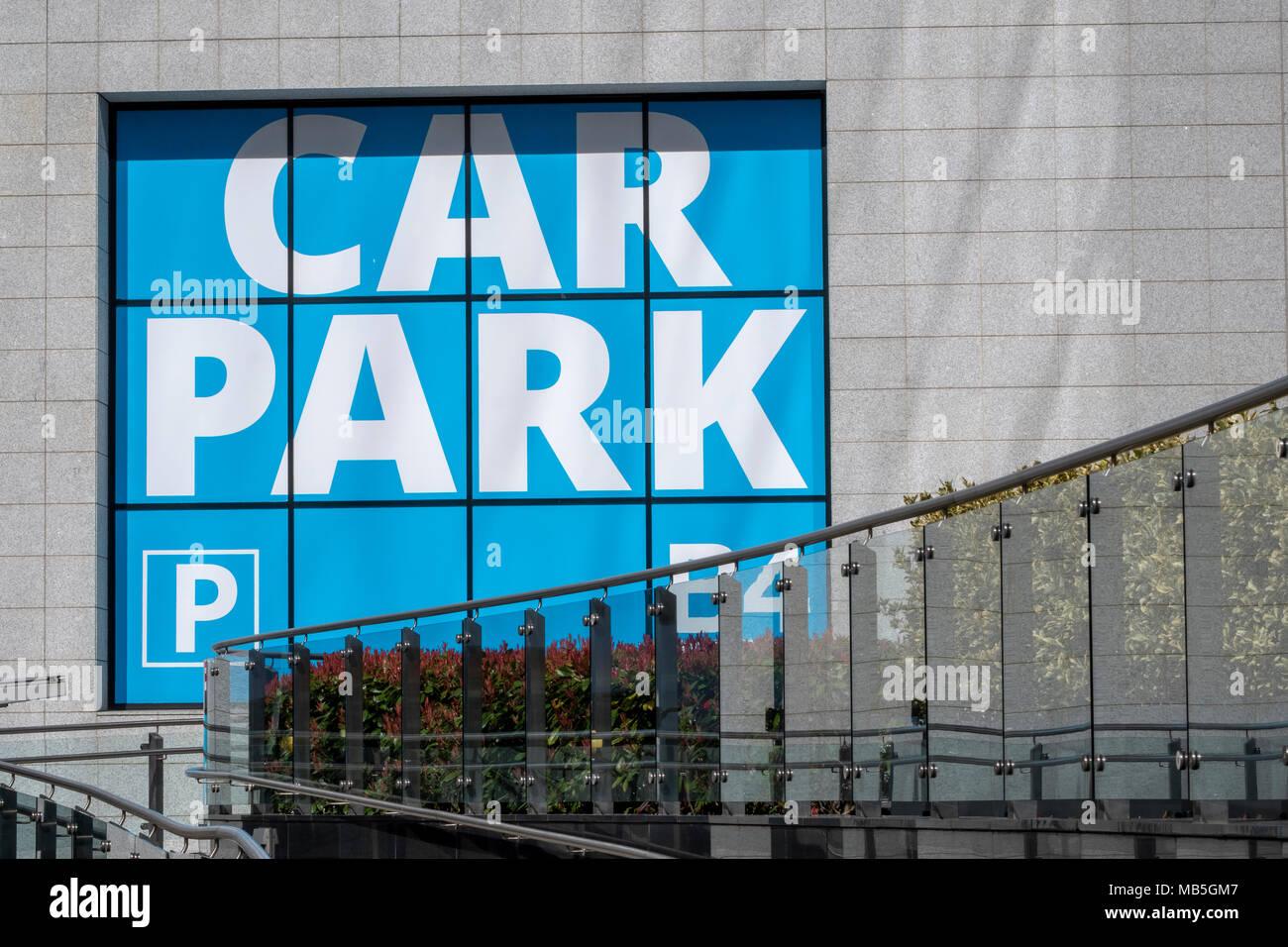 Car park sign, Birmingham - Stock Image