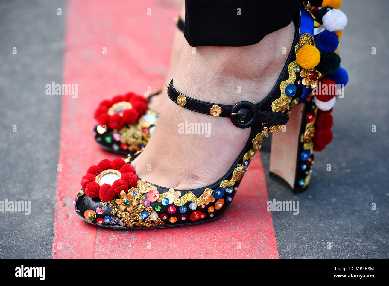 High heels shows - Fashion Week of Paris - Ready to Wear FW 18/19 - Paris - France - Stock Image