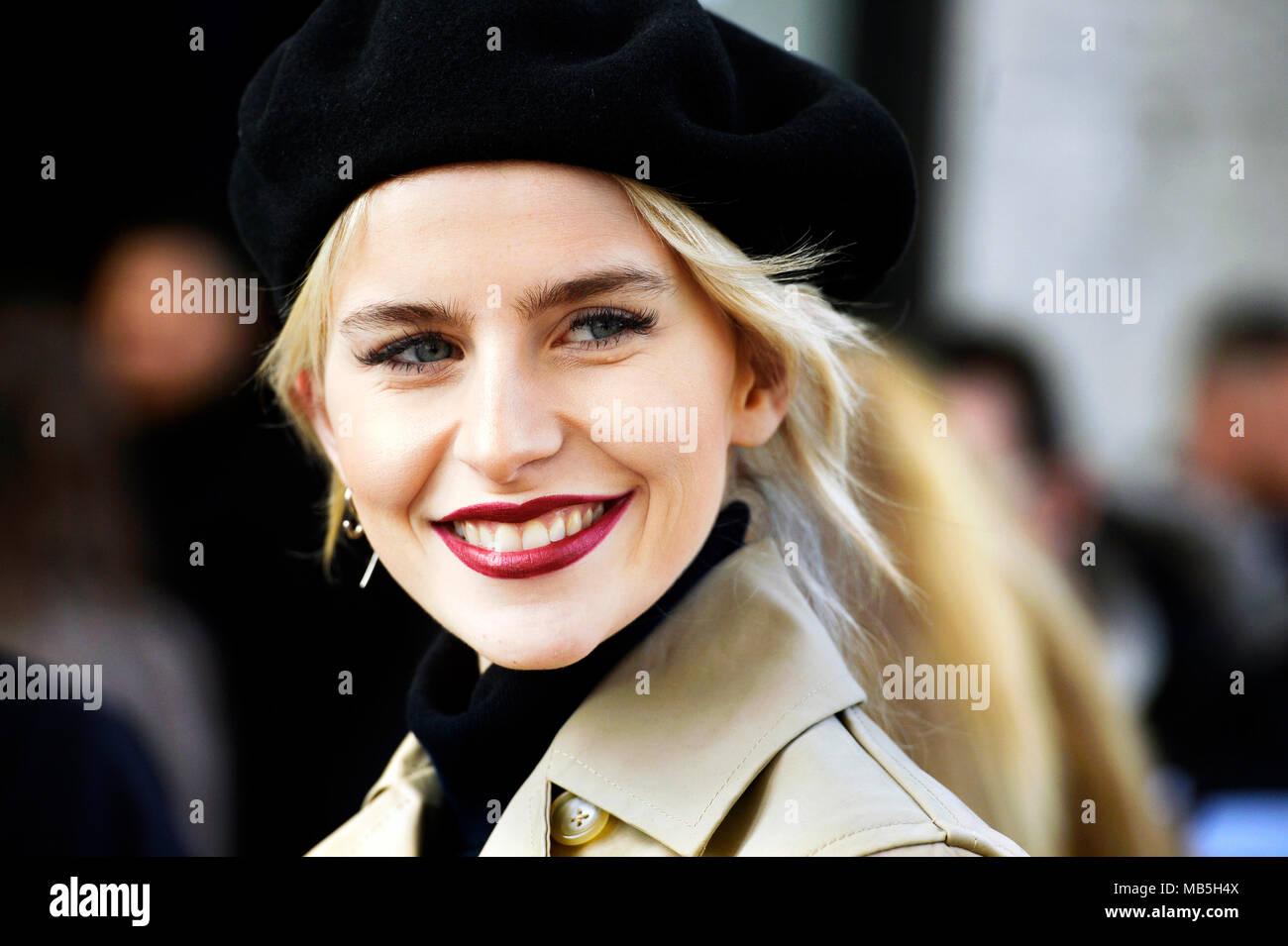 Caroline Daur at Fashion Week of Paris - Ready to Wear FW 18/19 - Paris - France - Stock Image