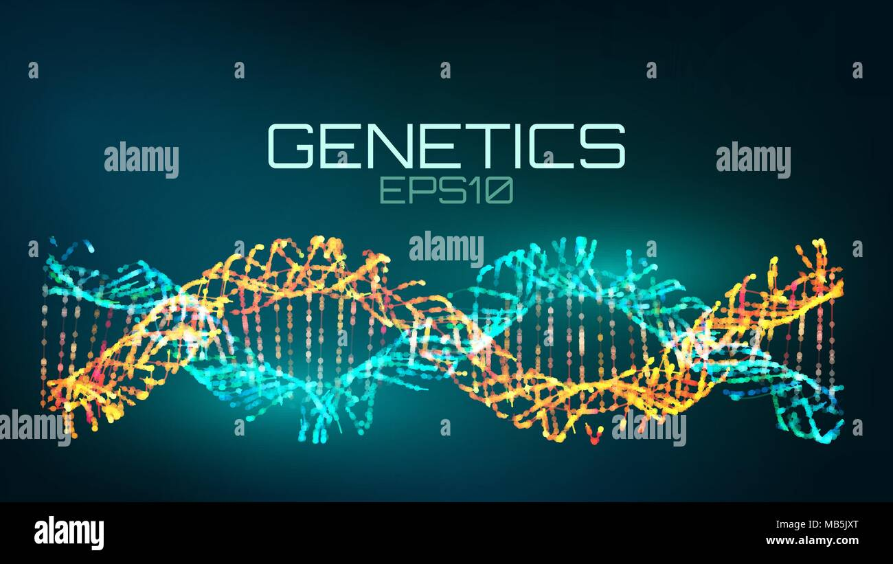 Genetics futuristic technology. genetically modified bio tech helix - Stock Image