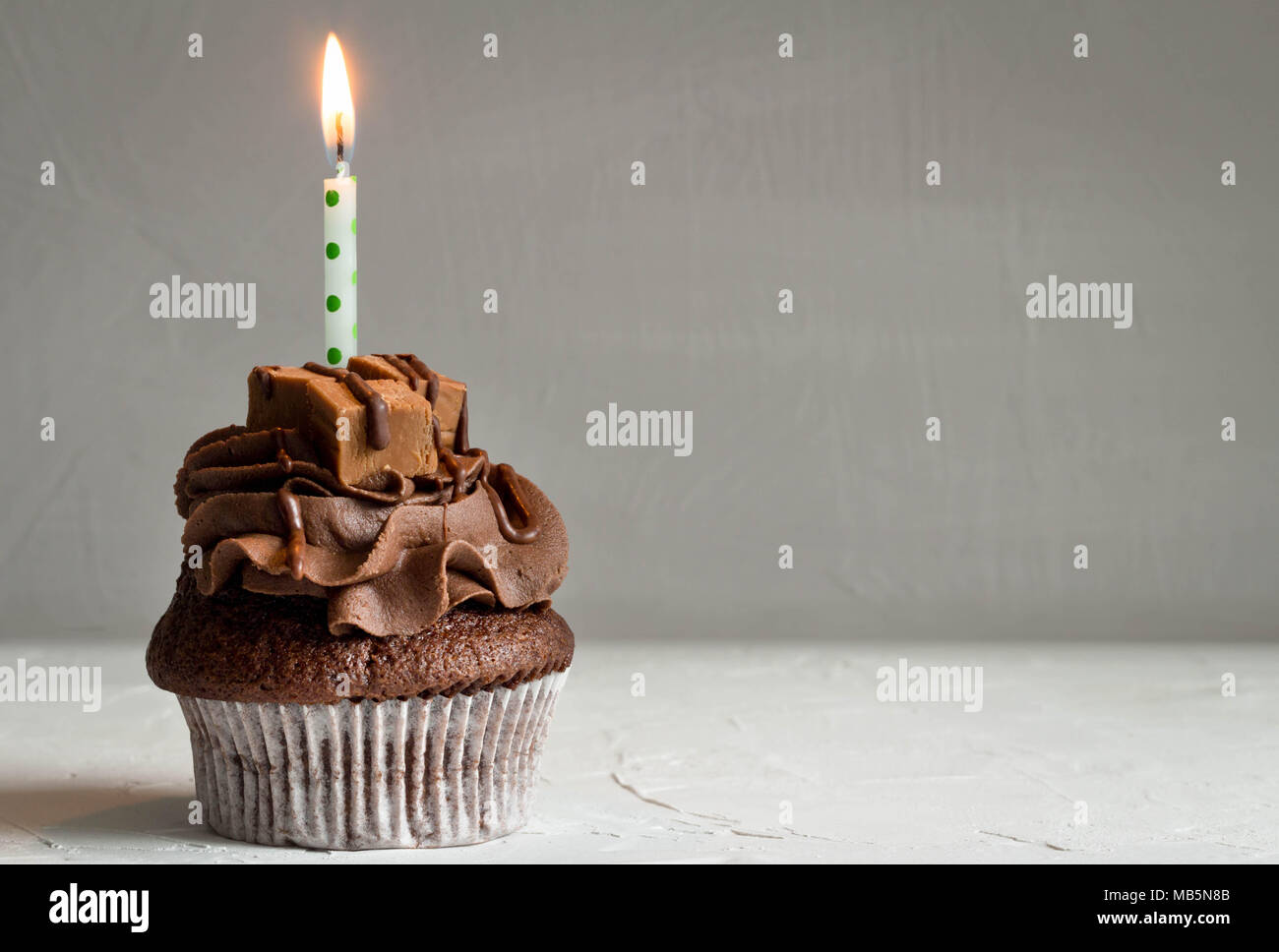 Chocolate Birthday Cake Candles Celebration Calories Stock Photos