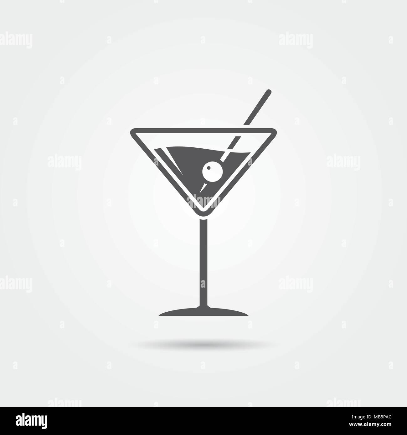 Martini cocktail icon. Vector illustration Stock Vector