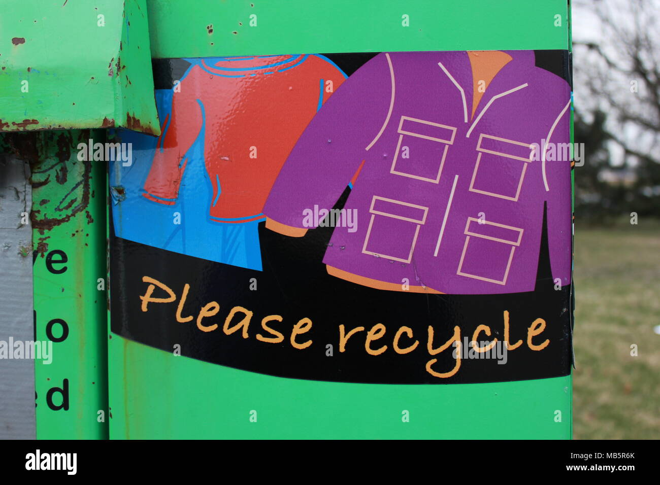 Donating and recycling on Chicago 's northwest side - Stock Image