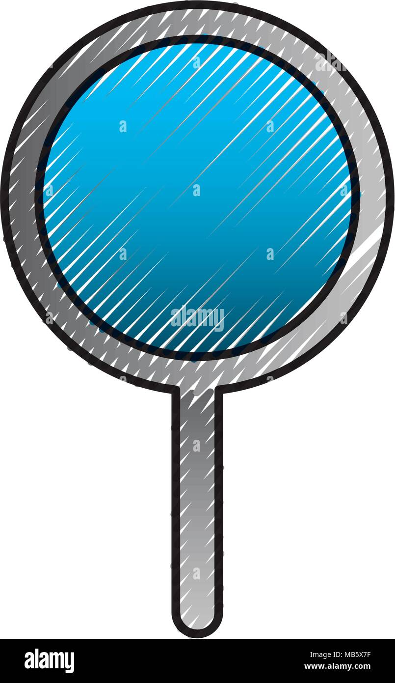 magnifier glass search find technology - Stock Vector