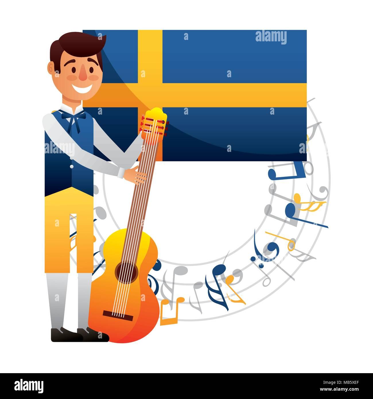 midsummer swedish celebration - Stock Image