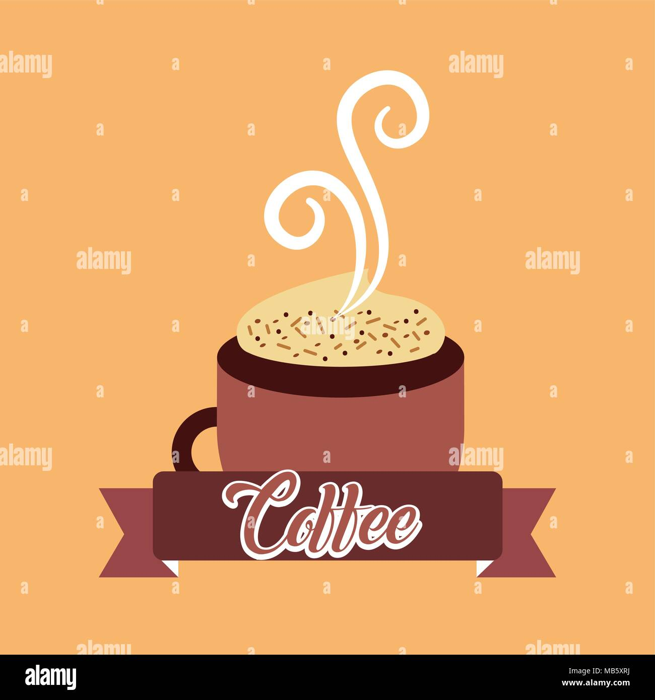 coffee time card - Stock Image