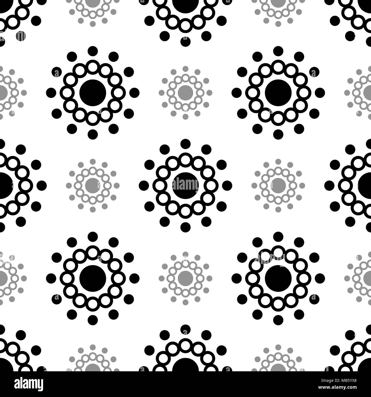 abstract black circle seamless pattern carnival and geometric