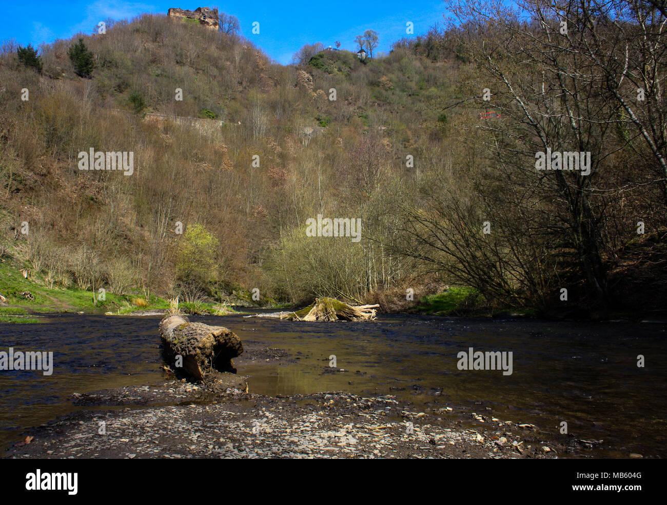 River in Wierschem Germany - Stock Image