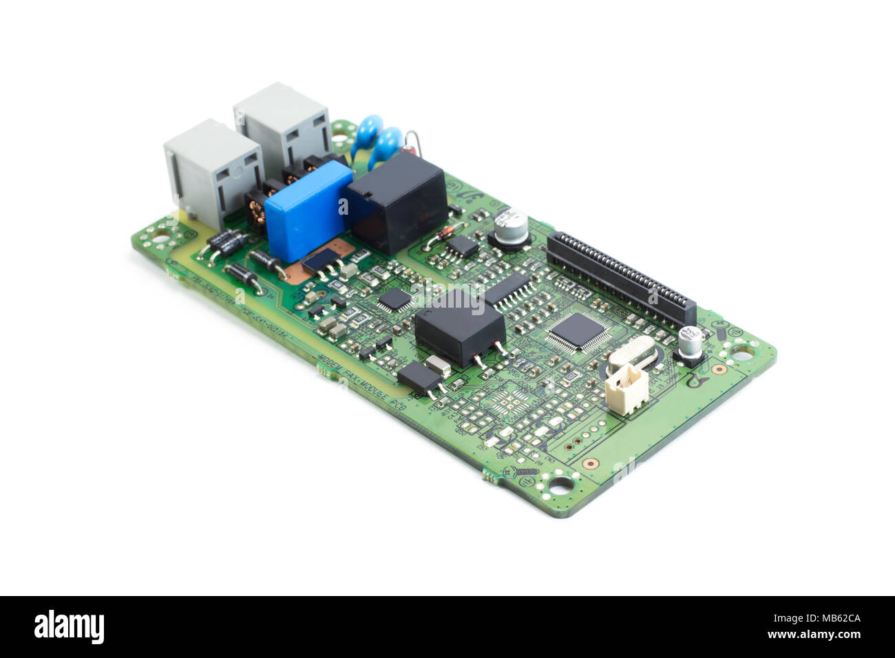 Electronics Printed Circuit Board Fax Stock Photo