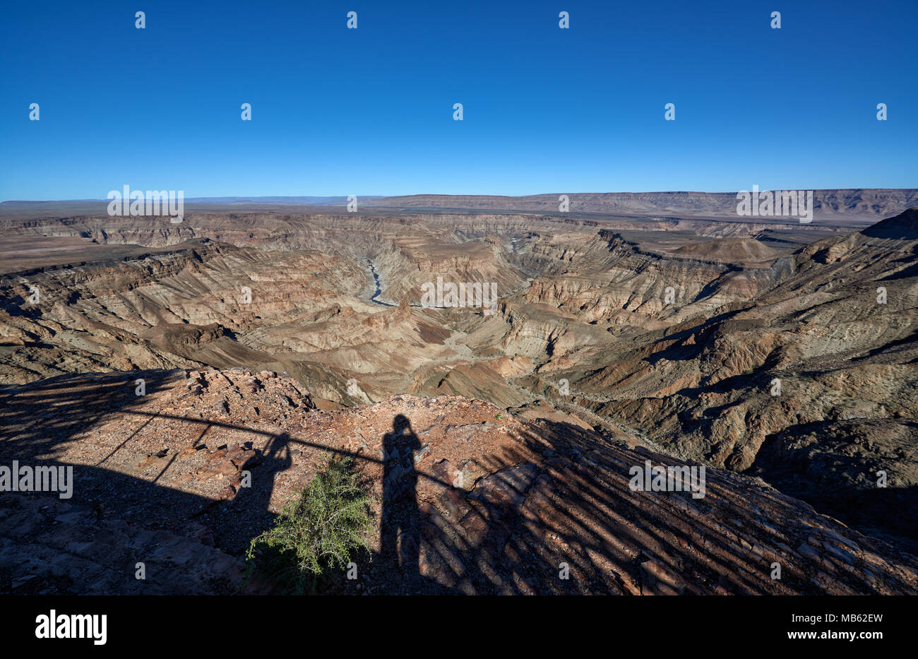 landscape of Fish River Canyon, Namibia, Africa - Stock Image