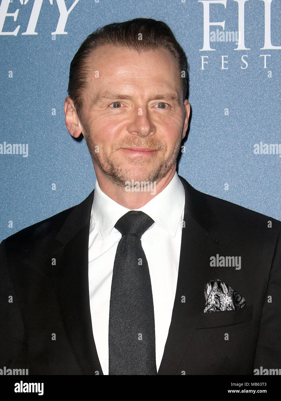 Feb 15, 2018  - Simon Pegg attending Newport Beach Film Festival UK Honours 2018, The Rosewood Hotel in London, England, UK Stock Photo