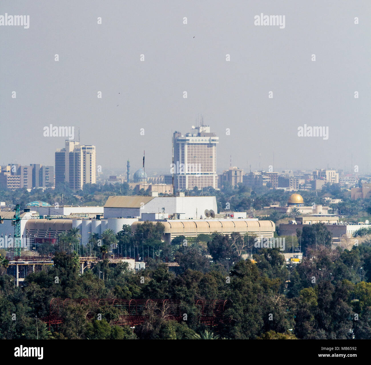 Aerial photo of the city of Baghdad, and shows where residential complexes. The city of Baghdad, capital of Iraq. - Stock Image