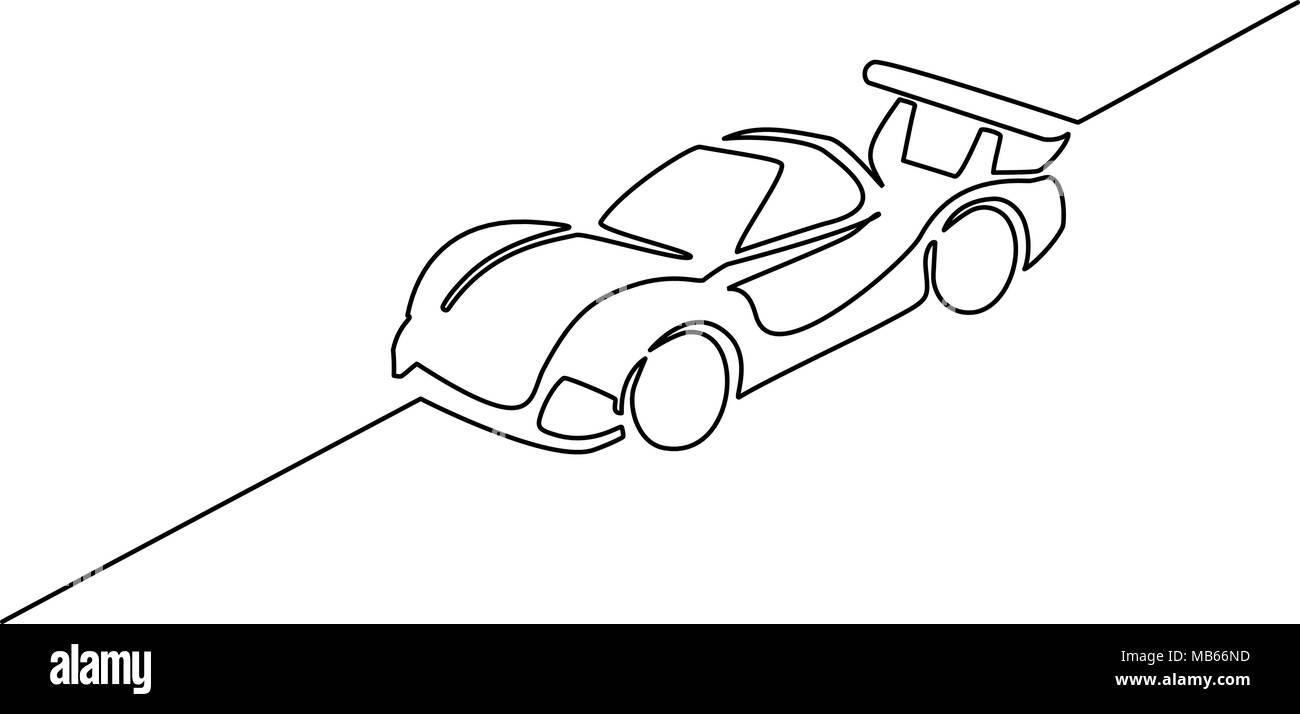 Prototype race sports car - Stock Image
