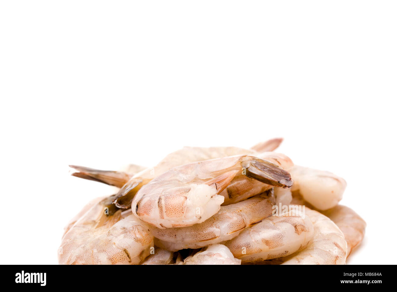 Raw Jumbo Shrimp On A White Background Stock Photo 179003002 Alamy