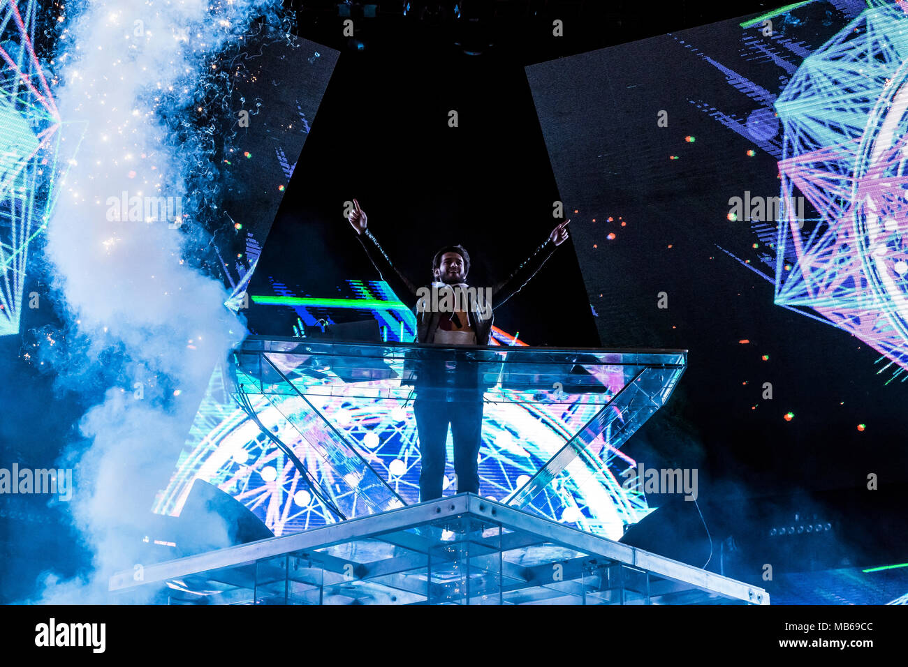 Zedd performs at Air + Style Festival in Los Angeles, CA - Stock Image