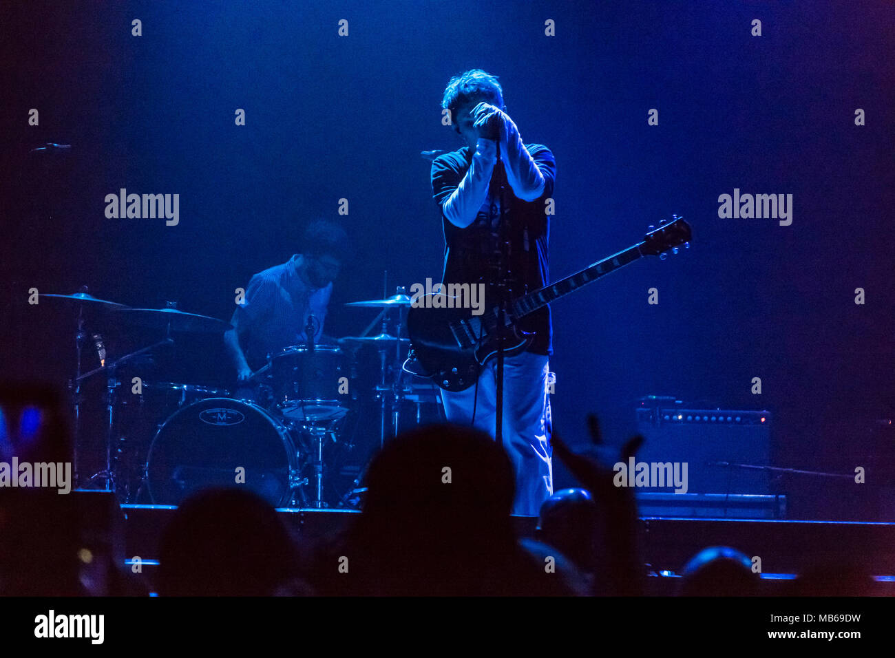 Nothing But Thieves open for AWOLNATION on the Here Come The Runts Tour in Los Angeles, CA - Stock Image