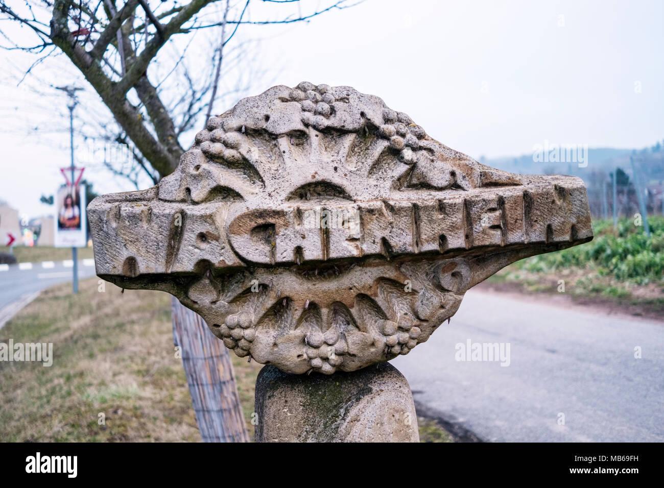 Wachenheim, RHeinland-Pfalz, Germany Stock Photo