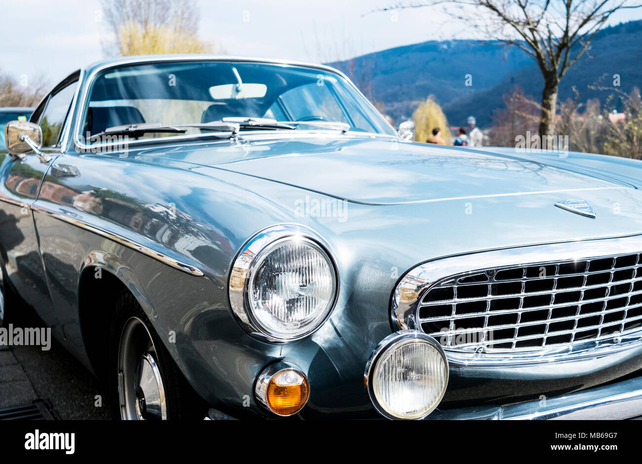 Seventies' oldtimer close-up - Stock Image