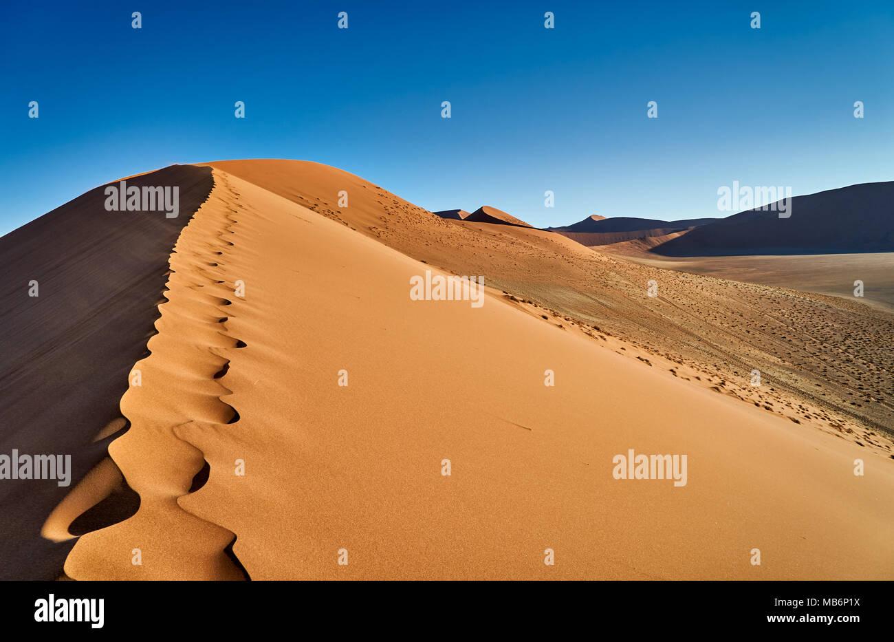 dune 45, desert landscape of Namib - Stock Image