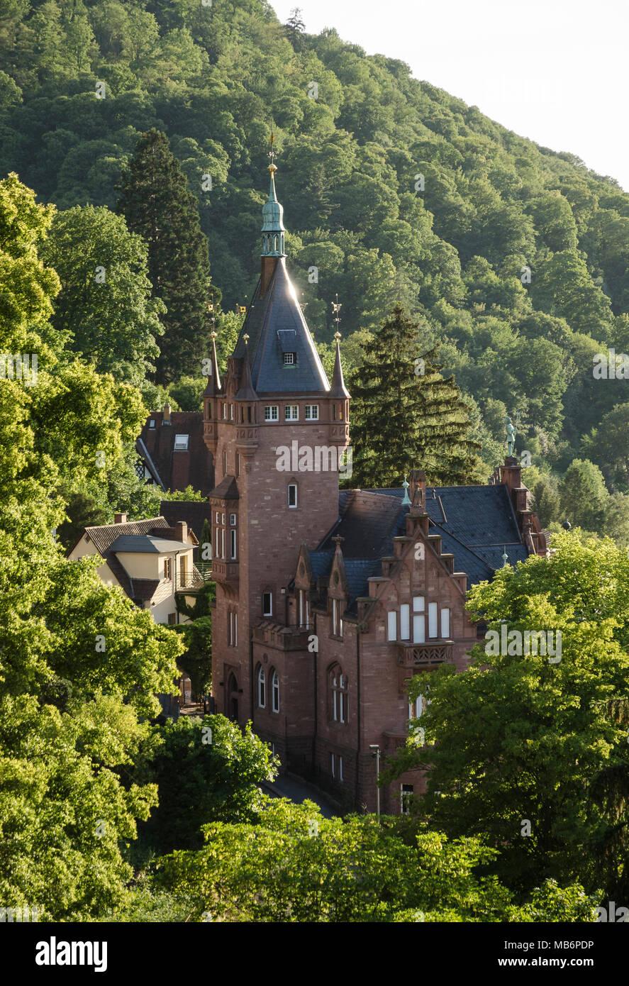 Villen, Heidelberg, Baden-Württemberg, Deutschland, Europa Stock ...