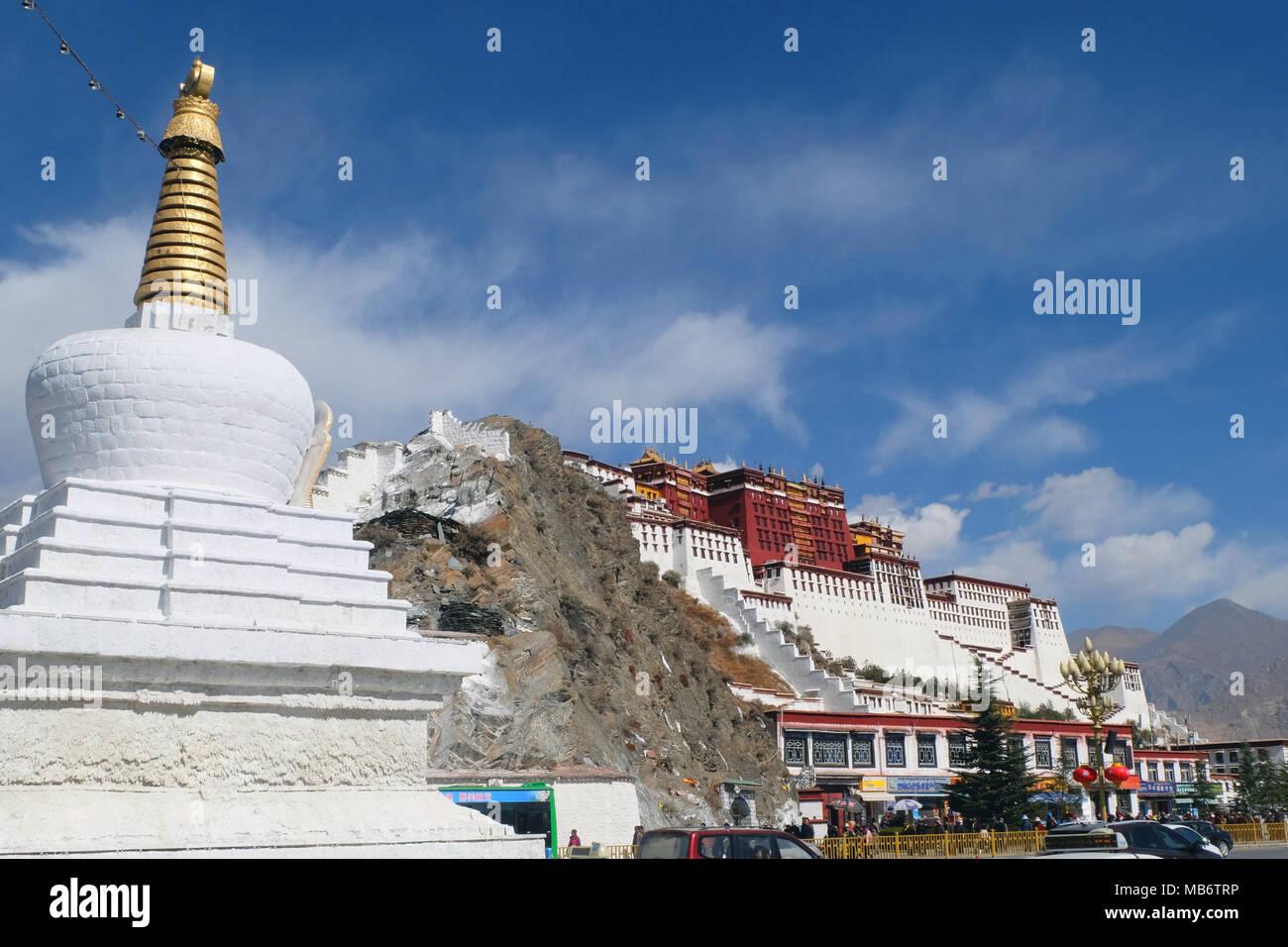 Potala Palace, Lhasa, Tibet - Stock Image