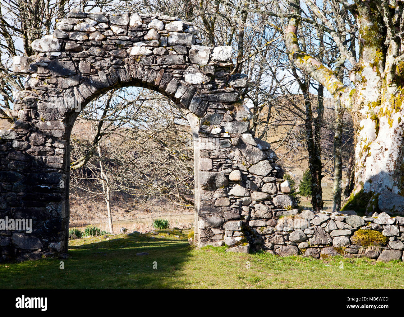 Archway at Carnasserie Castle near Kilmartin, Argyle and Bute, Scotland - Stock Image