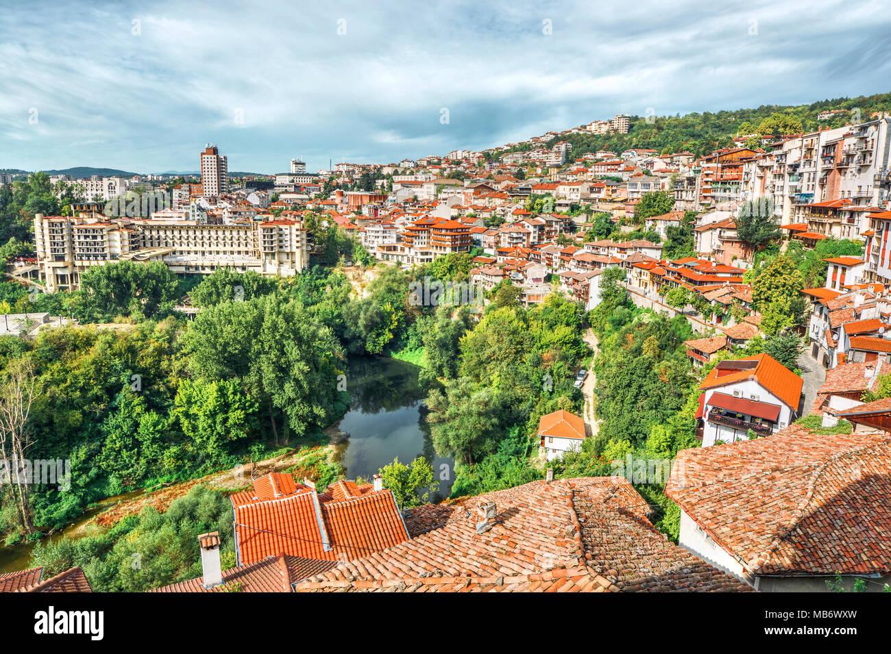 Cityscape of Veliko Tarnovo (Bulgaria) Stock Photo