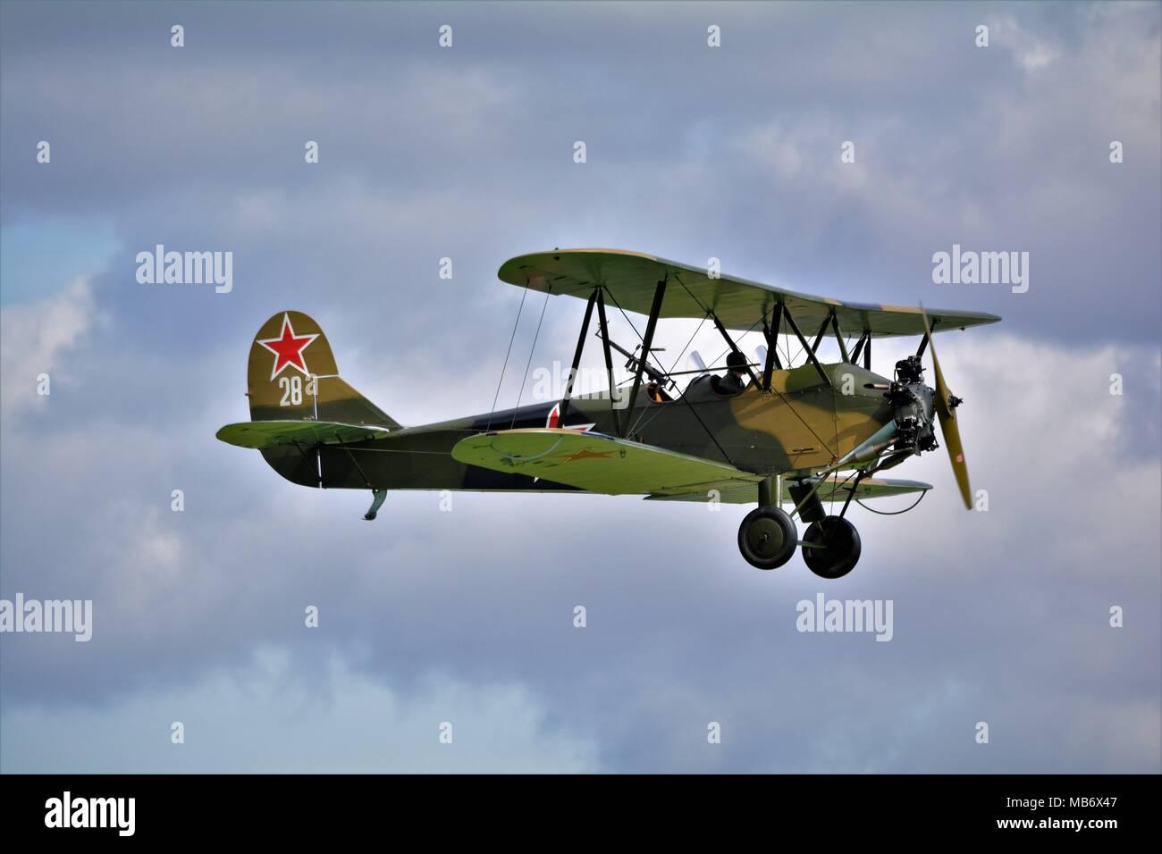 Polikarpov PO-2 Russian bi plane - Stock Image