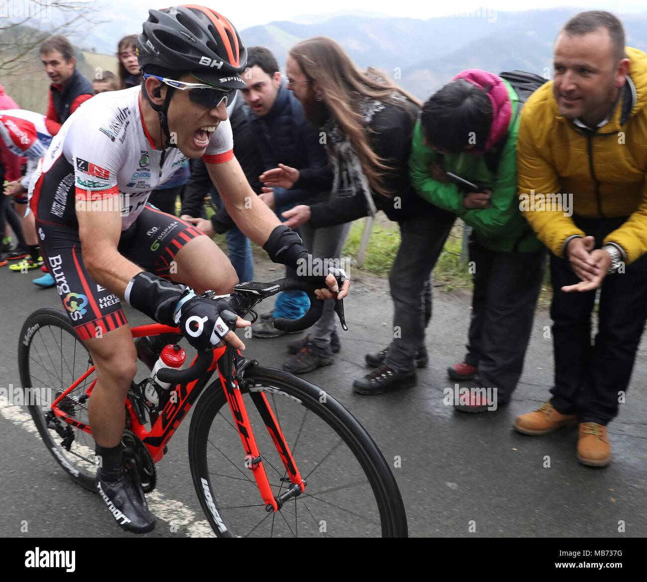ed10e3022 Spanish cyclist Ibai Salas of Burgos-BH team in action during the sixth  stage of