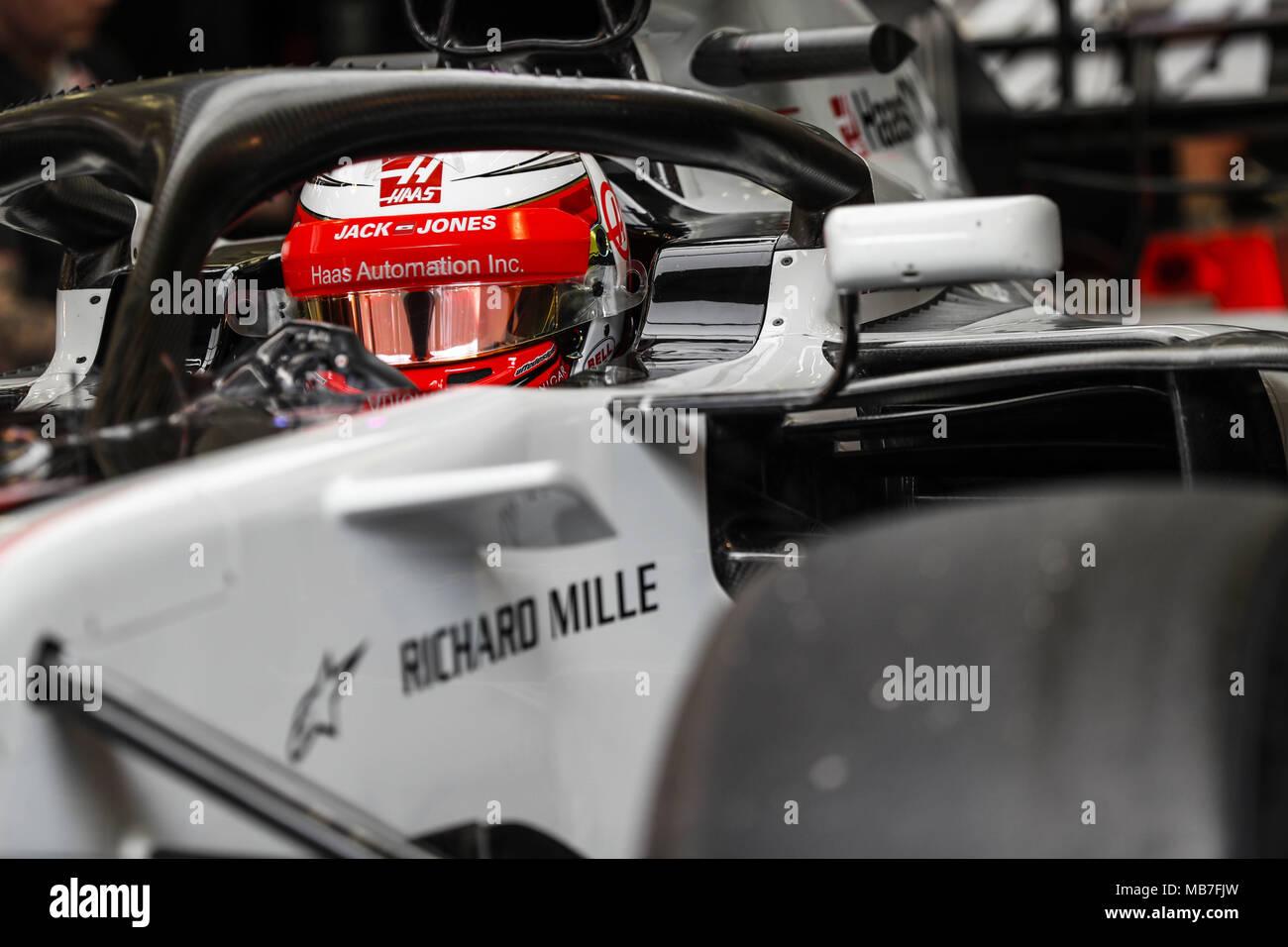 MAGNUSSEN Kevin (dnk), Haas F1 Team VF-18 Ferrari, action during ...