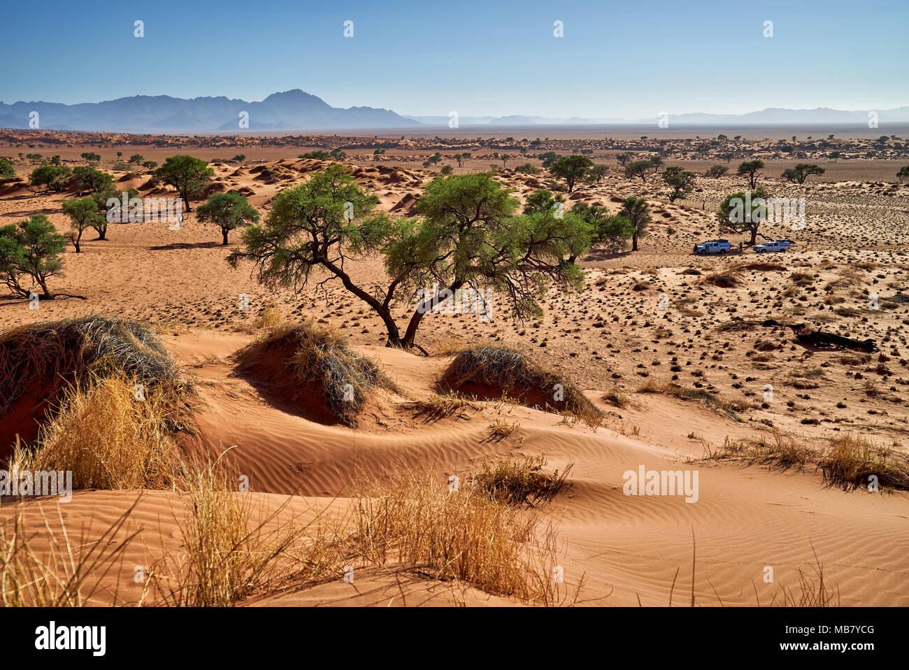 deserted landscape of NamibRand Nature Reserve, Namibia, Africa - Stock Image