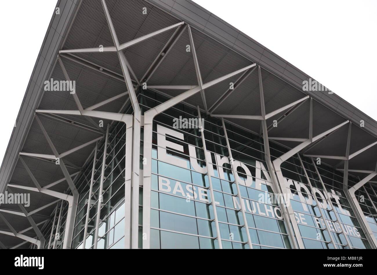 The terminal building of EuroAirport (Basel, Mulhouse, Freiburg), Basel, Switzerland, January 2018 Stock Photo