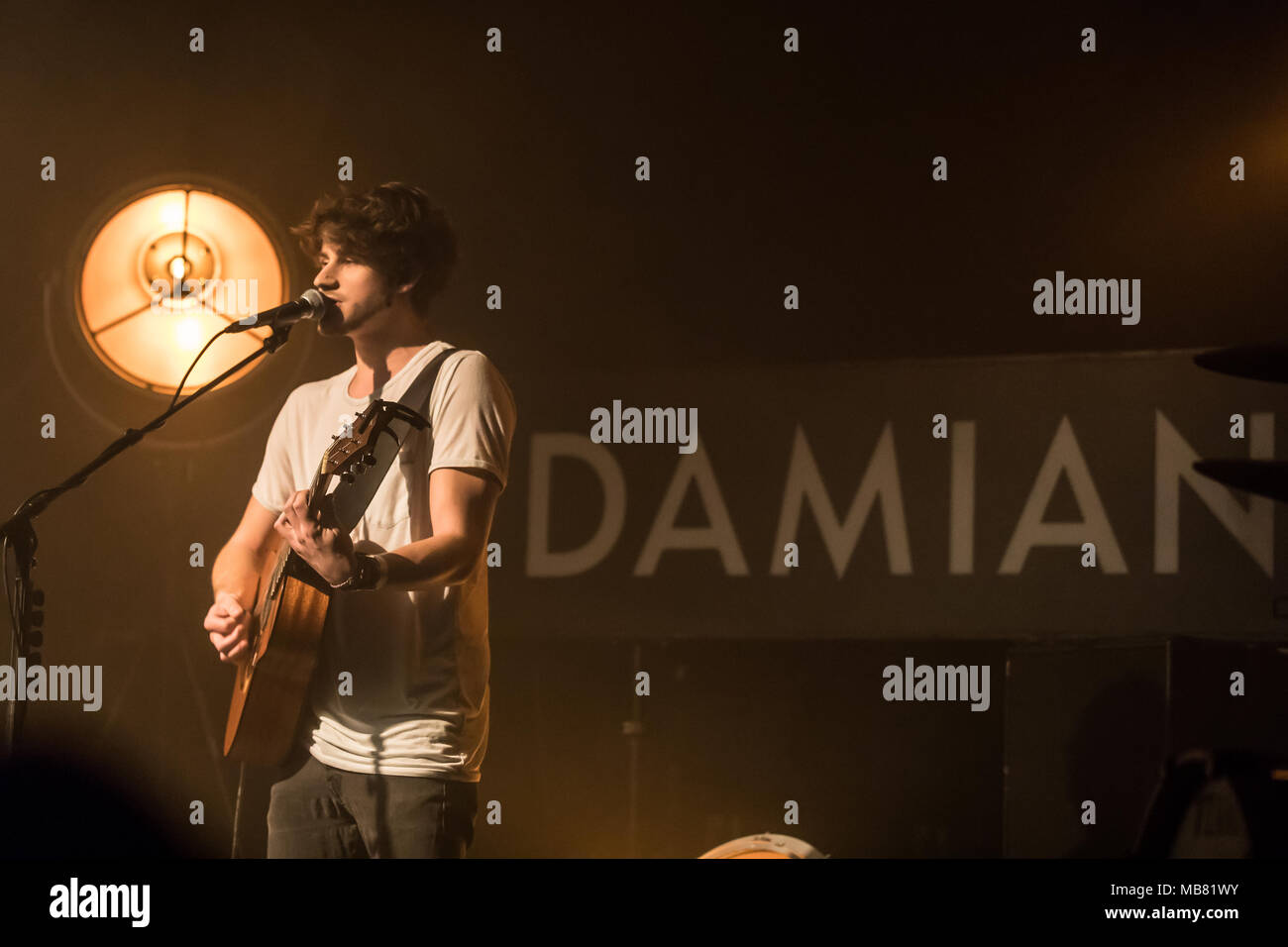 The Swiss musician Damian Lynn live at the Schüür Lucerne, Switzerland - Stock Image