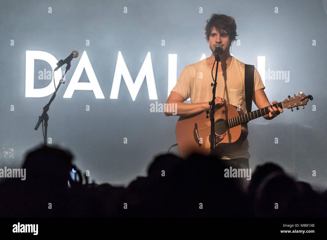 The Swiss musician Damian Lynn live at the Schüür Lucerne, Switzerland - Stock Image
