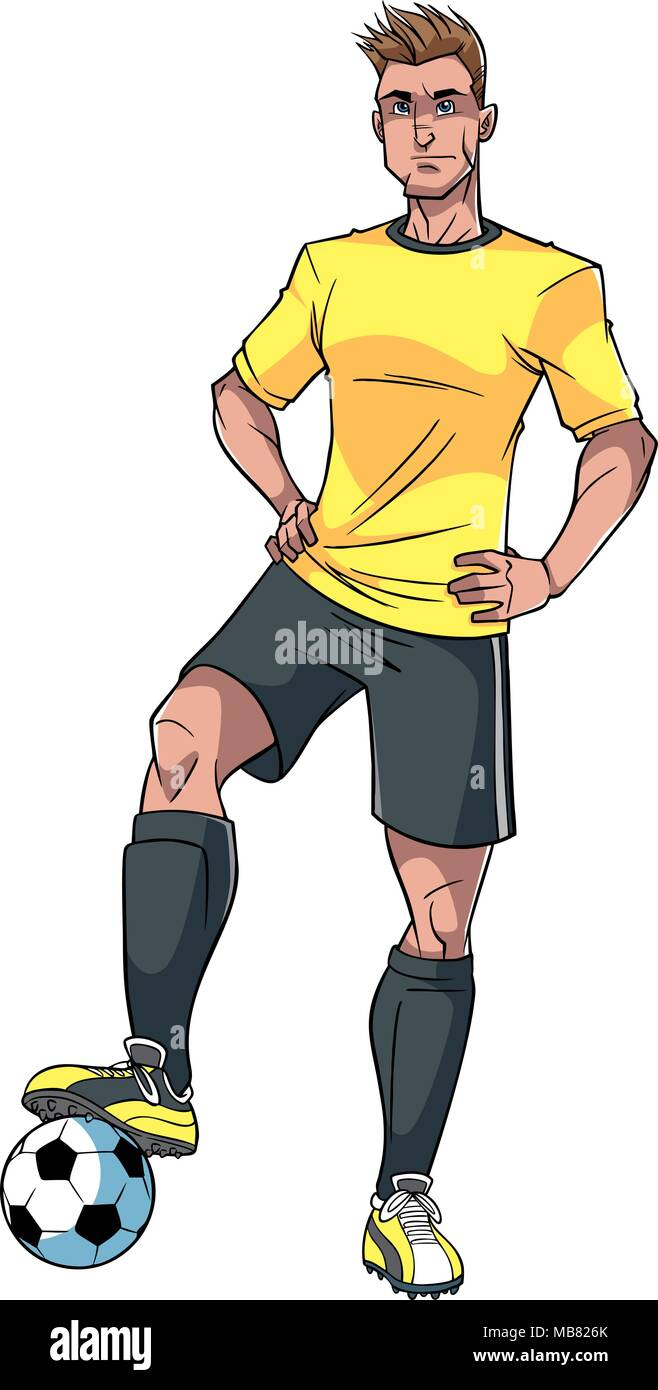 Football Player Illustration - Stock Vector
