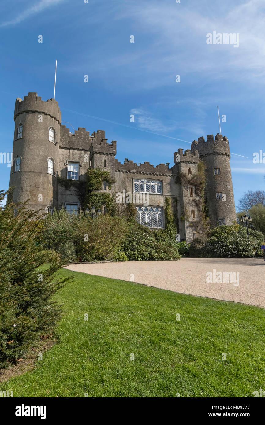 Malahide Castle, Dublin - Stock Image