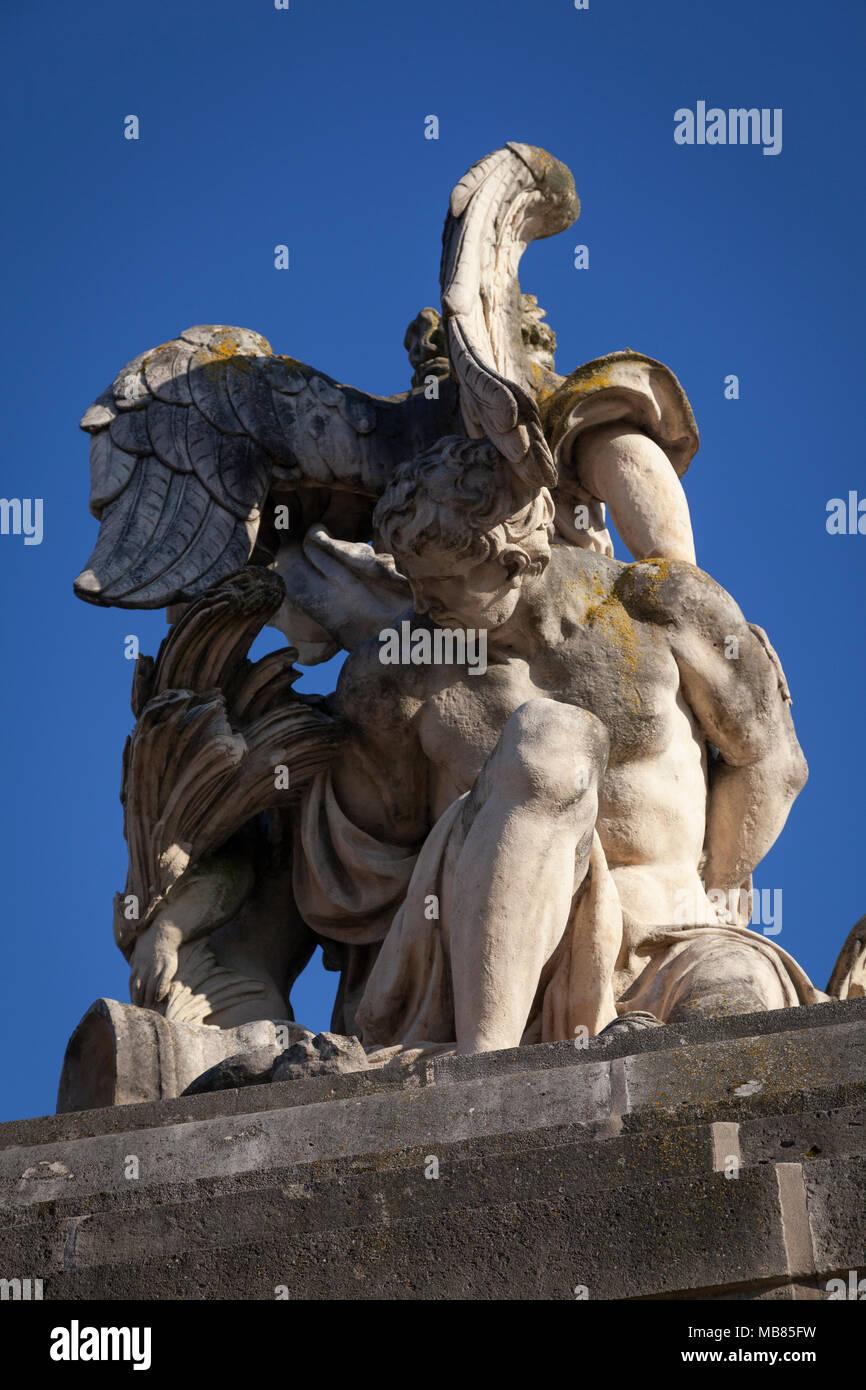 Chateau de Versailles (Palace of Versailles), a UNESCO World Heritage Site, France - detail of stone sculpture - Stock Image