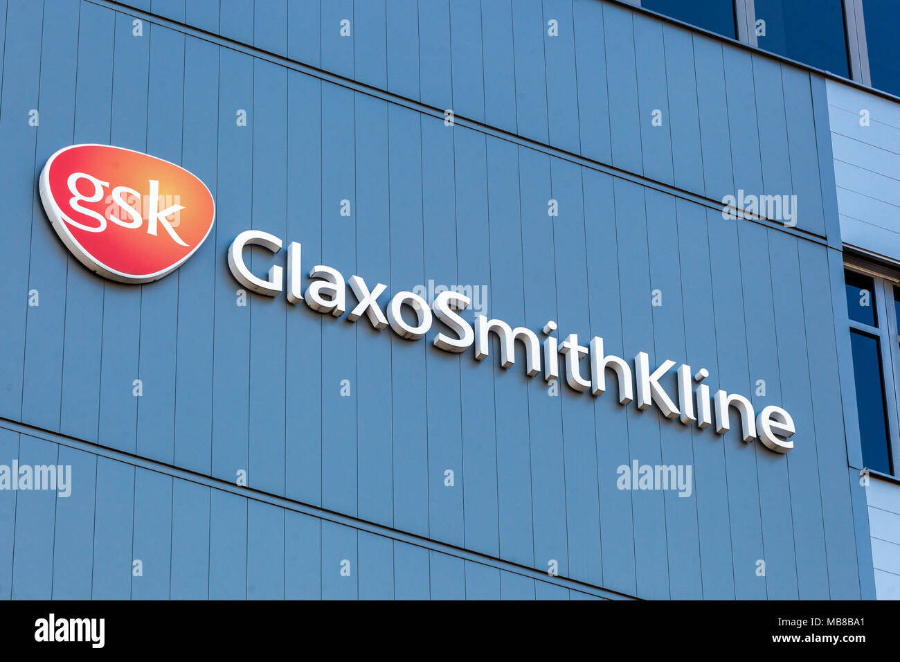 Gsk stock photos gsk stock images alamy gsk glaxosmithkline logo dresden germany stock image biocorpaavc Gallery