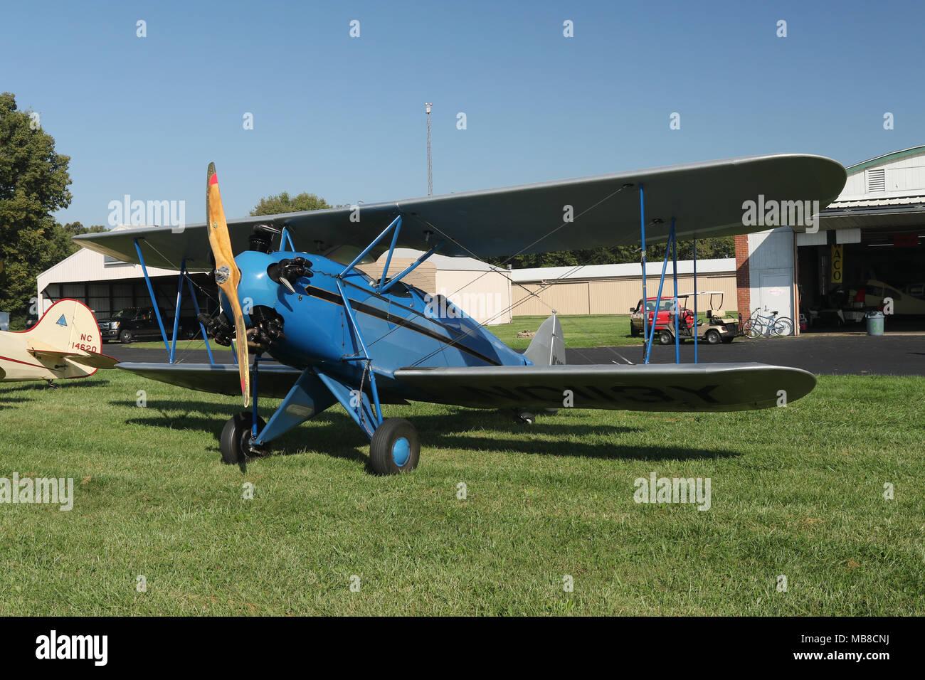 Vintage 1930 airplane  WACO model KNF, serial number 3297